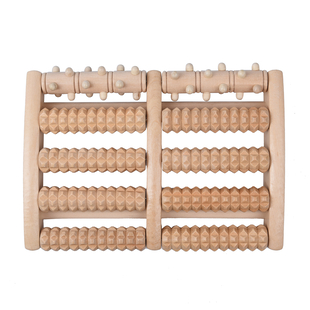 Super Find - Acupressure Health Wooden Foot Roller (Size 29x21x6Cm)