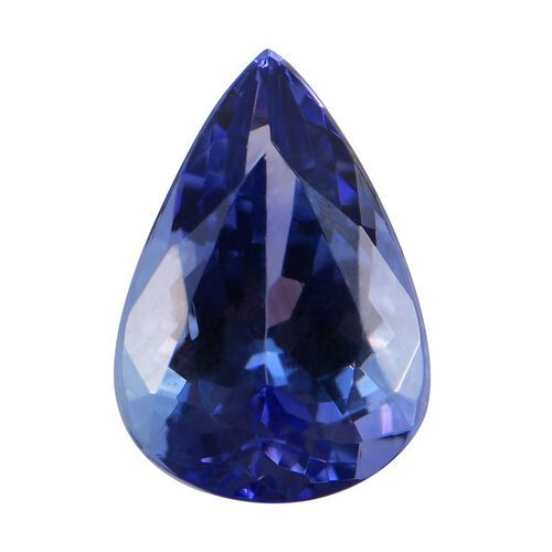 AA Peacock Tanzanite Pear 10x7 Faceted 1.65 Cts