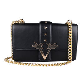 19V69 ITALIA by Alessandro Versace Crossbody Bag with Magnetic Clasp Closure and Chain Strap (Size 2