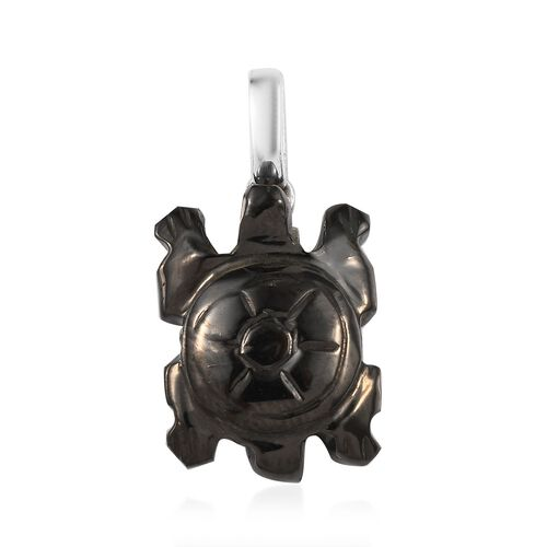 Artisan Crafted Elite Shungite Turtle Pendant in Sterling Silver 9.83 Ct.