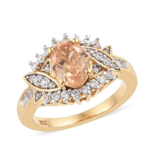 Extremely Rare One Time Deal- AAA Imperial Garnet (Ovl), Natural Cambodian Zircon Ring in 14K Gold O