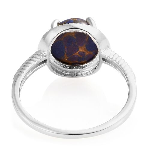 Mojave Purple Turquoise (Rnd) Solitaire Ring in Sterling Silver 3.750 Ct.