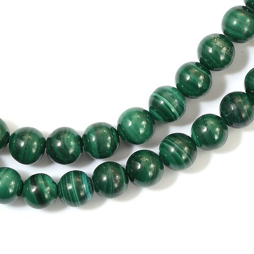 Sundays Child Malachite Beaded Necklace (Size 30) in Yellow Gold Vermeil Sterling Silver 300.00 Ct