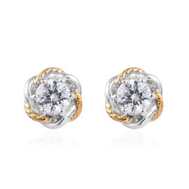 J Francis Made with SWAROVSKI ZIRCONIA Solitaire Stud Earring in Sterling Silver