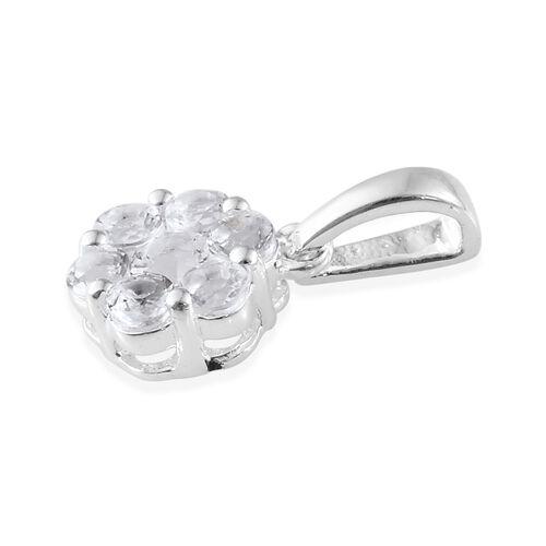 Super Auction- Petalite (Rnd) Pressure Set Floral Pendant in Sterling Silver 3/4 carat.