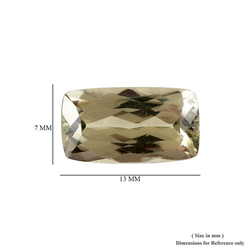 AAA Diaspore Cushion 13x7 Faceted 3.90 Cts