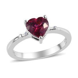 RHAPSODY 950 Platinum AAAA Ouro Fino Rubelite (Hrt), Diamond (VS/E-F) Solitaire Ring 1.50 Ct.