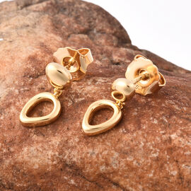LucyQ Fluid Design Drop Earrings in Yellow Gold Plated Sterling Silver