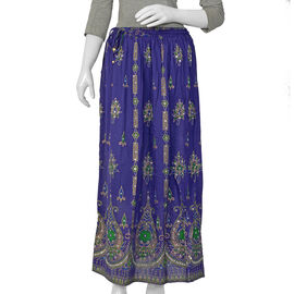 Sequin Embellished Purple Colour Skirt (Free Size) - Length 38 Inches