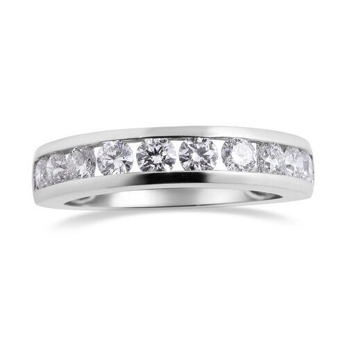 RHAPSODY 950 Platinum IGI Certified Diamond (Rnd) (VS/E-F) Half Eternity Band Ring  1.000 Ct.