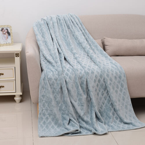 Checker Pattern Blanket (Size 200x150 Cm)