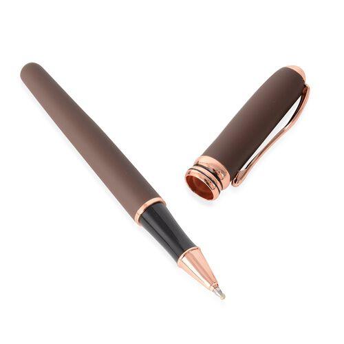 2 Piece Set - Luxury Pen Set with Box (Size 1.5x13.5 Cm) - Brown