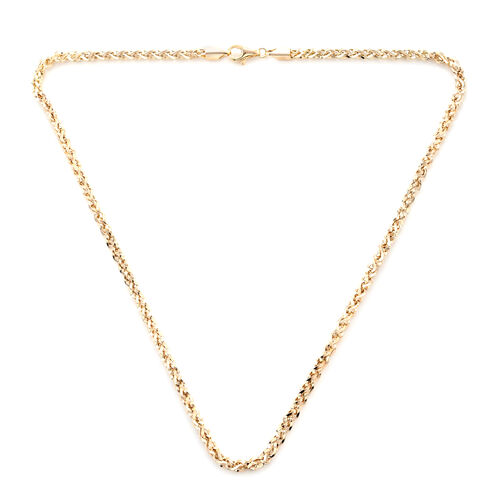9K Yellow Gold Prince of Wales Necklace (Size 20) with Lobster Lock, Gold wt 10.76 Gms