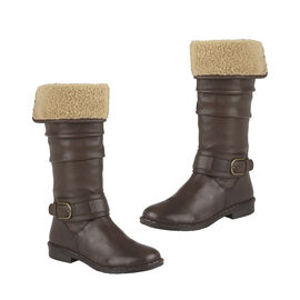 Lotus Brown Leather Talitha Knee-High Boots