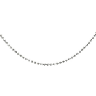 Sterling Silver Ball Bead Chain (Size 20), Silver wt 3.10 Gms