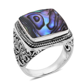 Royal Bali Collection Abalone Shell Ring in Sterling Silver, Silver wt 7.81 Gms.