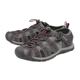 Gola Shingle 3 Closed Toe Ladies Sandal in Black and Hot Pink Colour