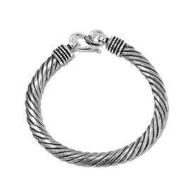 Sterling Silver Cable Bracelet (Size 7.5), Silver wt 24.60 Gms.