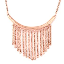 LucyQ Collar Necklace in Rose Gold Plated Sterling Silver 11.48 Grams 16 With 4 Inch Extender