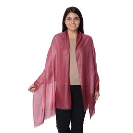 Wine Colour Shiny Gradient Scarf (Size 70x180 Cm)