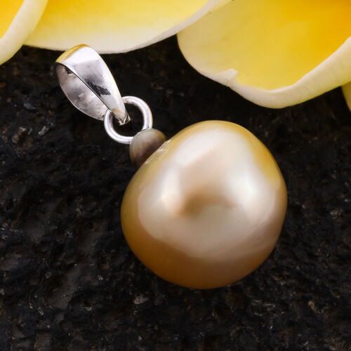 South Sea Golden Pearl Pendant in Sterling Silver