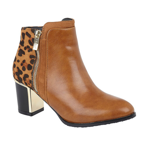 Lotus Tan & Leopard Greeve Ankle Boots (Size 3)