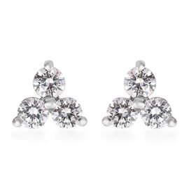 RHAPSODY 950 Platinum IGI Certified Diamond (Rnd) (VS/E-F) Earrings (with Screw Back) 0.25 Ct.