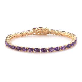 11.25 Ct Lusaka Amethyst Tennis Bracelet in Gold Plated Sterling Silver 10.9 Grams