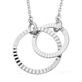 Sterling Silver Circle Necklace (Size 18), Silver wt 4.09 Gms
