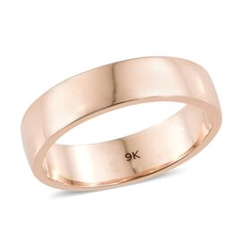 5mm Plain Wedding Band Ring in 9K Rose Gold 3.73 grams