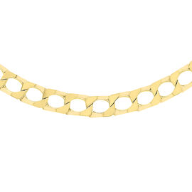 9K Yellow Gold Square Curb Necklace (Size 20), Gold wt 14.60 Gms.