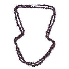 Rhodolite Garnet  Necklace (Size 52) with Lobster Lock in Platinum Overlay Sterling Silver 256.880 Ct.