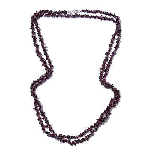 Rhodolite Garnet  Necklace (Size 52) with Lobster Lock in Platinum Overlay Sterling Silver 256.880 C