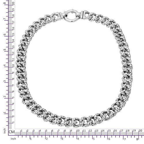 Sterling Silver Curb Link Necklace (Size 20), Silver wt 59.00 Gms