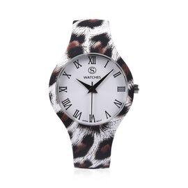 Designer Inspired - Japanese Movement Animal Print Stainless Steel Watch - Jaguar