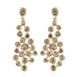 1.55 Ct Narsipatnam Alexandrite Dangle Earrings in Gold Plated Sterling Silver 6.01 Grams