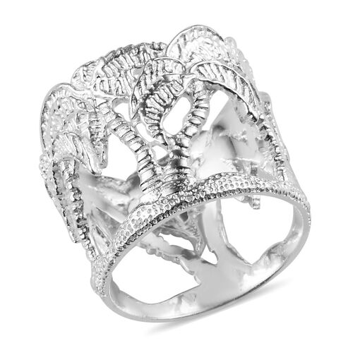 Palm Tree Ring in Sterling Silver