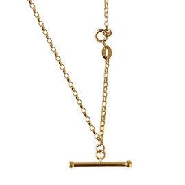 Hatton Garden Close Out Deal- 9K Yellow Gold T-Bar Bracelet (Size 7)