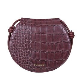 Bulaggi Collection Iris Croco Crossbody Bag - Burgundy