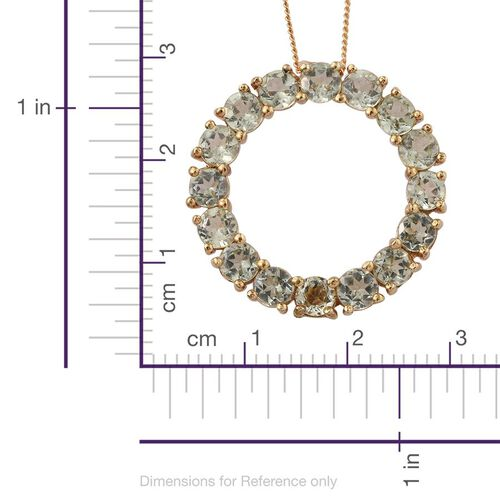 Natural Canary Apatite (Rnd) Circle of Life Pendant With Chain in 14K Gold Overlay Sterling Silver 4.750 Ct.