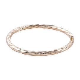 Royal Bali Diamond Cut Stacker Bangle in 9K Gold 8.93 Grams 7.5 Inch
