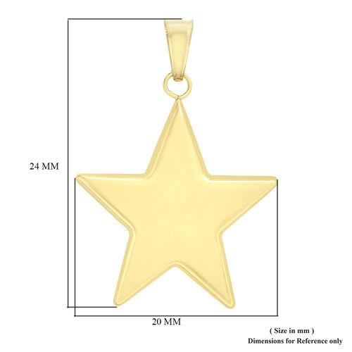 Personalised 9k Gold Star Pendant