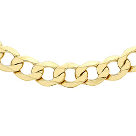 Hatton Garden Close Out 9K Yellow Gold Curb Necklace (Size 20), Gold wt 15.52 Gms.