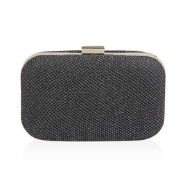 Hardcase Clutch Bag with Chain - Black Colour