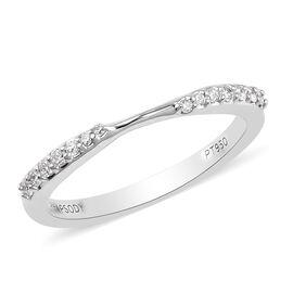 RHAPSODY 0.14 Ct Diamond Supreme Finish Twist Band Ring in 950 Platinum IGI Certified VS EF