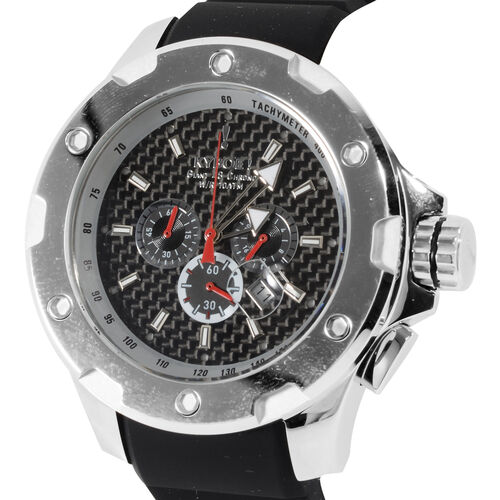 KYBOE Alpha Collection - Steel Noir 48MM LED Watch- 100M Water Resistance