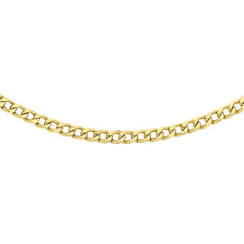Hatton Garden Close Out 9K Yellow Gold Curb Necklace (Size 24) with Spring Clasp