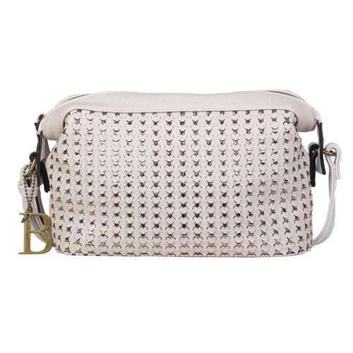 Bulaggi Collection Buffy Bone Colour Crossover Bag with Adjustable Strap