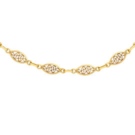 Filigree Oval Link Chain in 9K Yellow Gold 18 Inch