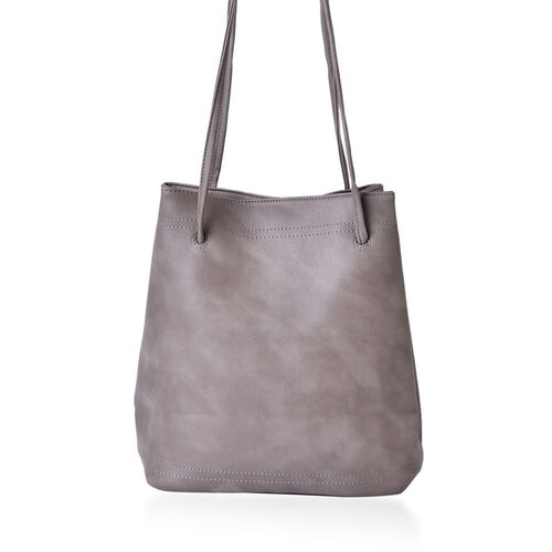 Designer Inspired Estella Grey Colour Large Size Tote Bag (Size 30x28x15 Cm)